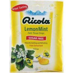 Ricola Natural Herb Throat Drop Sugar Free Lemon Mint 19 Lozenges