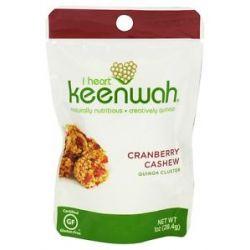 I Heart Keenwah All Natural Quinoa Clusters Cranberry Cashew 1 Oz