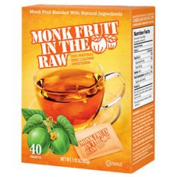 In The Raw Monk Fruit in The Raw Natural Sweetener 40 Packet S