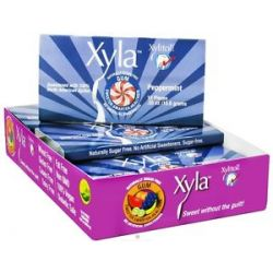 Xylitol USA Xyla Naturally Sugar Free Gum Peppermint 12 Piece S