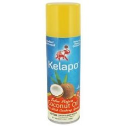 Kelapo Extra Virgin Coconut Oil Non Stick Cooking Spray 5 Oz