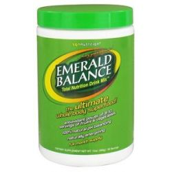 Sgn Nutrition Emerald Balance Total Nutrition Drink Mix 10 Oz