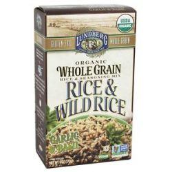 Lundberg Organic Whole Grain Rice Wild Rice Garlic Basil 6 Oz