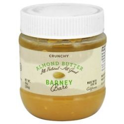 Barney Butter All Natural Almond Butter Bare Crunchy 10 Oz