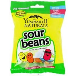 Yummy Earth All Natural Gluten Free Sour Jelly Beans 2 5 Oz