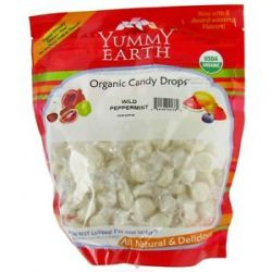 Yummy Earth Organic Candy Drops Gluten Free Wild Peppermint Flavor 13 Oz