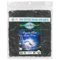 Earth Circle Organics Raw Certified Organic Sushi Nori Sheets 10 Sheet S