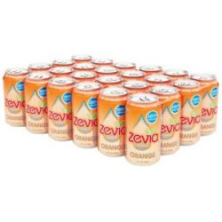 Zevia All Natural Soda Sweetened with Stevia 12 oz Cans Orange Flavor 24