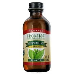 Frontier Natural Products Organic Alcohol Free Flavor Peppermint 2 Oz