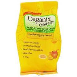 Organix Complete Cough Sore Throat Drops Golden Honey Lemon Flavor 21