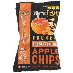 Bare Fruit 100 Natural Crunchy Apple Chips Sea Salt Caramel 1 69 Oz