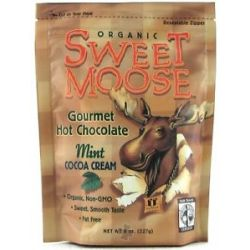Funfresh Foods Sweet Moose Gourmet Hot Chocolate Organic Cocoa Chocolate Mint
