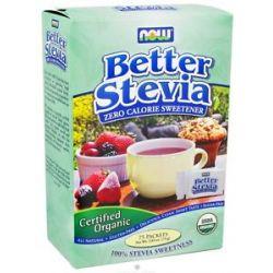 Now Foods Better Stevia Zero Calorie Sweetener Certified Organic 75 Packet S