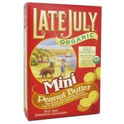 Late July Organic Mini Organic Bite Size Sandwich Crackers Peanut Butter 5