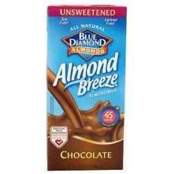 Blue Diamond Growers Almond Breeze Almond Milk Unsweetened Chocolate 32 Oz