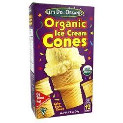 Let's do Organic Ice Cream Cones 1 2 Oz