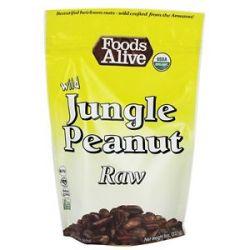Foods Alive Raw Wild Jungle Peanuts 8 Oz