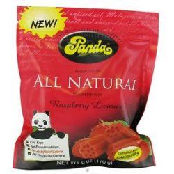 Panda Licorice Soft Chews Raspberry 6 Oz