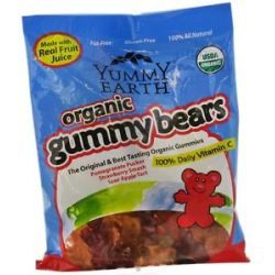 Yummy Earth Organic Gummy Bears 5 Oz