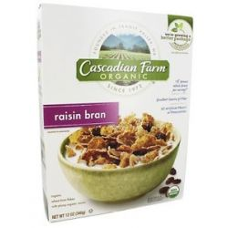 Cascadian Farm Organic Cereal Raisin Bran 12 Oz