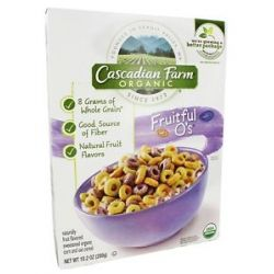 Cascadian Farm Organic Cereal Fruitful O's 10 2 Oz