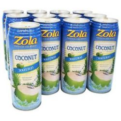 Zola 100 Natural Coconut Water with Pulp 17 5 Oz
