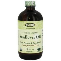 Flora Sunflower Oil Certified Organic 8 5 Oz