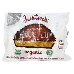 Justin's Nut Butter Peanut Butter Cups Milk Chocolate 5 Oz