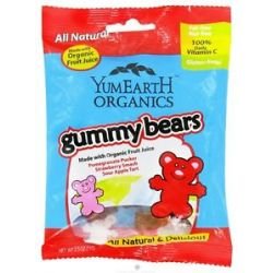 Yummy Earth Organic Gluten Free Gummy Bears 2 5 Oz
