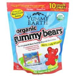 Yummy Earth Organic Gummy Bears Family Size 10 Pack S