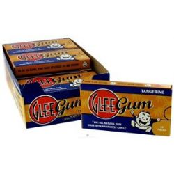 Glee Gum All Natural Chewing Gum Tangerine 18 Piece S