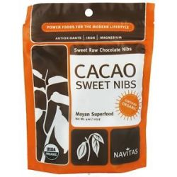 Navitas Naturals Cacao Sweet Raw Chocolate Nibs 4 Oz