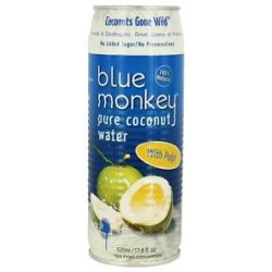 Blue Monkey 100 Pure Coconut Water with Pulp 17 6 Oz