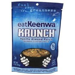 Eatkeenwa Krunch Quinoa Cluster Snack Vanilla Almond Raisin 4 Oz