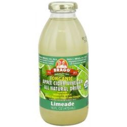 Bragg Organic Apple Cider Vinegar All Natural Drink Limeade 16 Oz