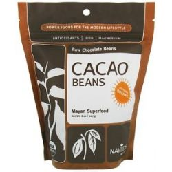 Navitas Naturals Cacao Raw Chocolate Beans Certified Organic 8 Oz