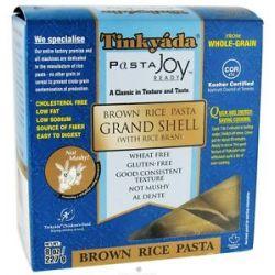 Tinkyada Pasta Brown Rice Pasta Grand Shell with Rice Bran 8 Oz