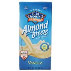 Blue Diamond Growers Almond Breeze Almond Milk Vanilla 32 Oz