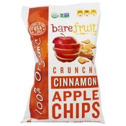 Bare Fruit 100 Organic Bake Dried Cinnamon Apple Chips 2 6 Oz
