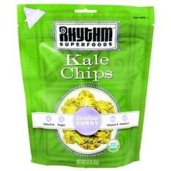 Rhythm Superfoods Organic Kale Chips Raw Bombay Curry 2 Oz