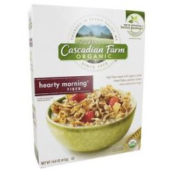 Cascadian Farm Organic Cereal Hearty Morning Fiber 14 6 Oz
