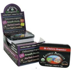 St Claire's Organics Herbal Sweets Licorice Pastilles 1 5 Oz
