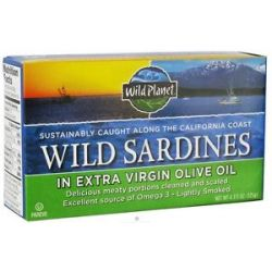Wild Planet Wild Sardines in Extra Virgin Olive Oil 4 38 Oz