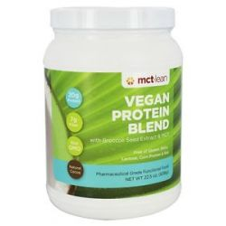 MCT Lean Vegan Protein Blend with Broccoli Seed Extract MCT Natural Cocoa