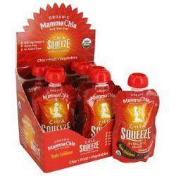 Mamma Chia Organic Chia Squeeze Vitality Snack Apple Cinnamon 1200 MG 3 5