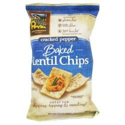 Mediterranean Snacks Gluten Free Baked Lentil Chips Cracked Pepper 4 5 Oz