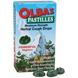 Olbas Olbas Pastilles Maximum Strength Herbal Cough Drops 27 Pastilles