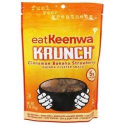 Eatkeenwa Krunch Quinoa Cluster Snack Cinnamon Banana Strawberry 4 Oz