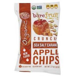 Bare Fruit 100 Organic Crunchy Apple Chips Sea Salt Caramel 2 2 Oz
