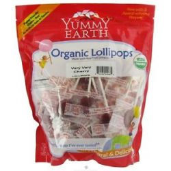 Yummy Earth Organic Lollipops Gluten Free Very Very Cherry 12 3 Oz